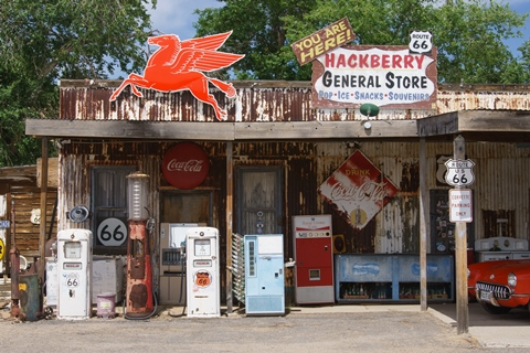 General Store, Historic Route 66, Hackberry
